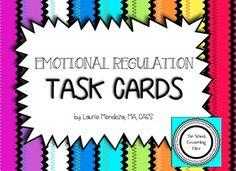 Emotional Regulation Task Cards - No matter what program you're using to teach… Social Skills Activities, Counseling Activities, Therapy Activities, Zones Of Regulation, Emotional Regulation, Elementary School Counseling, School Social Work, Self Regulation Strategies, Emotional Awareness