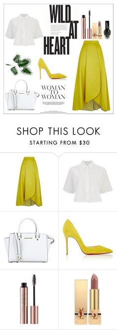 """""""Untitled #91"""" by mikssss ❤ liked on Polyvore featuring Pinko, T By Alexander Wang, MICHAEL Michael Kors, Christian Louboutin and Yves Saint Laurent"""