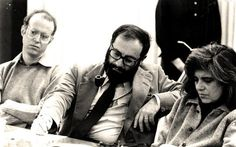 Richard sennett, umberto eco and susan sontag listerning to a talk ...