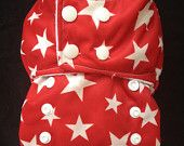 One-Size Pocket Style Cloth Diaper: Summer Strawberries Print. $19.00, via Etsy.