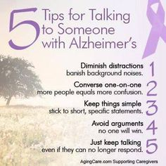 Some sound advice for talking to someone with Alzheimer's. #seniors