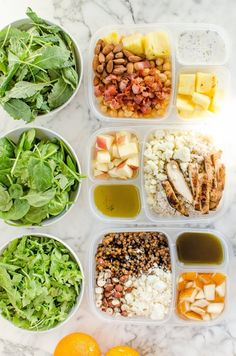 Salad Swag: 3 Cures for the Common Salad Lunch Tips from The Kitchn. French Lentil with Hazlenuts & Pears, Bleu Apple with barley & chicken, and Pineapple with Bacon Lunch Recipes, Healthy Dinner Recipes, Salad Recipes, Healthy Snacks, Healthy Eating, Cooking Recipes, Delicious Recipes, Detox Recipes, Healthy Options