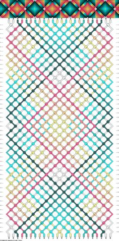 Muster # 74641, Streicher: 24 Zeilen: 48 Farben: 11