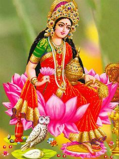 Goddess Lakshmi is closely linked to a goddess worshipped in Bali, i. Dewi Sri, as the goddess of fertility and agriculture Shiva Hindu, Durga Maa, Hindu Art, Lakshmi Photos, Lakshmi Images, Diwali Pooja, Shiva Lord Wallpapers, Divine Mother, Goddess Lakshmi