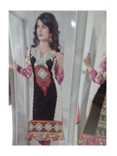 SV-KA0173 at JUST @ $74 Buy at http://www.shopvhop.com/product/black-white-orange-border-anaya-designer-collection/