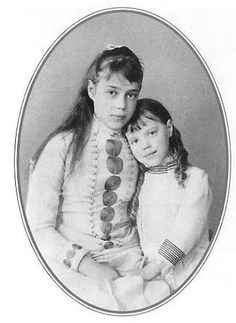 Grand duchess Xenia alexandrovna Romanov with her younger sister grand duchess Olga alexandrovna