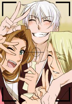 Bleach kira izuru Rangiku Matsumoto and Gin Ichimaru Bleach Manga, Bleach Fanart, Me Anime, Anime Love, Anime Manga, Anime Art, Shinigami, Cosplay, Ichimaru Gin
