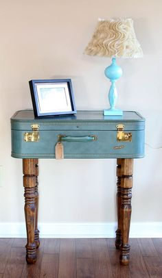 Best DIY Vintage Suitcase Table Ideas Vintage Suitcase Table Ideas Big Ideas may refer to: Vintage Home Decor, Decor, Furniture Diy, Repurposed Furniture, Diy Home Decor, Home Diy, Vintage Suitcase Table, Diy Vintage, Vintage Furniture