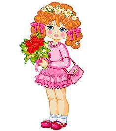 View album on Yandex. Views Album, Clipart, Princess Peach, Little Girls, Dolls, Children, Drawings, Cute, Inspiration