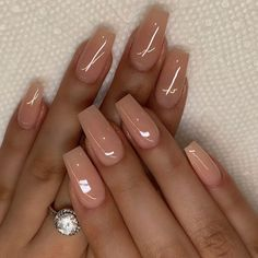 untitled coffee nails burgundy nails arrow nails homecoming nails shalac nails h. Best Acrylic Nails, Summer Acrylic Nails, Simple Acrylic Nails, Brown Acrylic Nails, Brown Nail, Fabulous Nails, Perfect Nails, Hair And Nails, My Nails