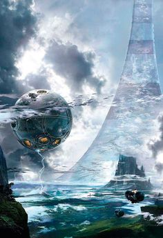 Future Architecture, Science Fiction, Stephan Martiniere. Visit http://digitalart.io for more great digital art.