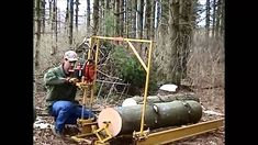 In early 2006 my dad made a portable saw mill that he could tow behind a vehicle such as an ATV, set up on-site, and then use a chainsaw to rip rough-cut lum...