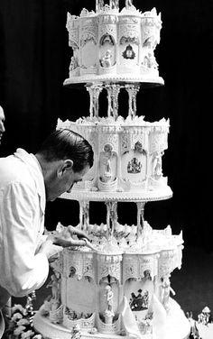 Queen Elizabeth II's wedding cake is up for auction.