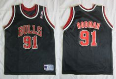 Vintage Dennis Rodman Chicago Bulls Jersey # 91 By Champion 14-16 Large  #Champion #ChicagoBulls