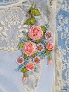 Closeup of ribbonwork