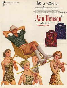 Let's go native...in Van Heusen, 1950's. by v.valenti, via Flickr