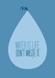 WaTeR 💧 iS LiFe. DoN'T WaSTe iT. 💦 ____Access to clean water reduces the likelihood of contracting a deadly waterborne disease.