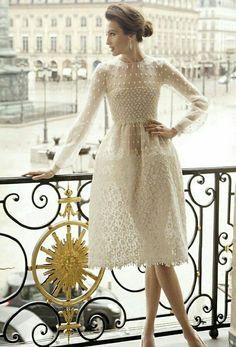 Designer fashion | Valentino white dress | Just a pretty dress