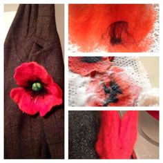 Felting a poppy photo clips tutorial from TeaFeltdesign