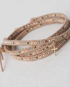✔ Jewelry Making Tutorials Chan Luu - Jewelry Making Diy Leather Bracelet, Beaded Wrap Bracelets, Leather Jewelry, Handmade Bracelets, Wire Jewelry, Beaded Jewelry, Jewelry Bracelets, Jewelery, Jewelry Accessories