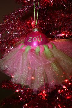 Ballet Tutu Christmas Ornaments ~ Personalized with Name and Your Color Choice By TooTuPrissy @Etsy: Price: $8.00. Every prissy little princess needs a tutu ornament for the Christmas tree! This also makes a fabulous Christmas gift for her favorite dance teacher.