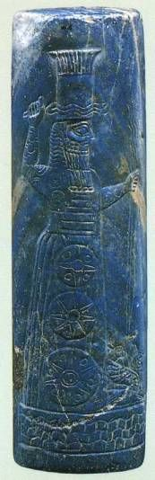 Sello del dios Adad. Babilonia, siglo IX a.C.