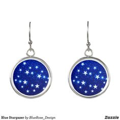 Blue Stargazer Earrings Stargazer, Christmas Card Holders, Keep It Cleaner, Colorful Backgrounds, Holiday Cards, Perfume, Joy, Drop Earrings, Unique