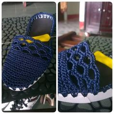Hi crochet girls Today a beautiful blue shoe crochet. Step by step and graphic. Crochet Girls, Love Crochet, Crochet Flowers, Crochet Baby, Knit Crochet, Tongs Crochet, Crochet Designs, Crochet Patterns, Crochet Flip Flops