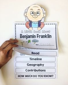 Benjamin Franklin Flipbooks would be a great idea to make and add facts to as we go through a Ben Franklin week or mini unit. Each student would make their own, but we would add to it as a large class. Social Studies Activities, Kindergarten Activities, New Year Resolution Essay, Year Resolutions, Benjamin Franklin For Kids, Ben Franklin Inventions, 1st Grade Crafts, Social Studies Notebook, Primary Teaching