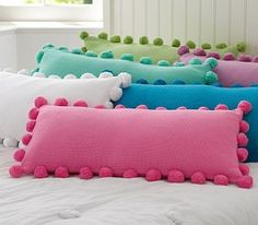 Pom Pom Organic Pillow Cover 2019 pottery barn pillows but how cute and easy to make! what kid wouldn't love to jump on a pile like this? The post Pom Pom Organic Pillow Cover 2019 appeared first on Pillow Diy.