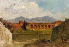 Giuseppe de Nittis - A Roman Aqueduct [1875]