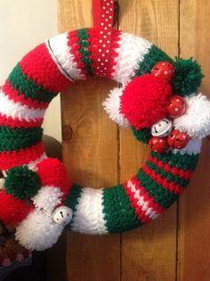 Christmas crochet wreath