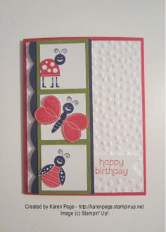 Kid's Birthday, Stampin' Up!, Bug Me, Decorative Dots Embossing Folder, Made For You