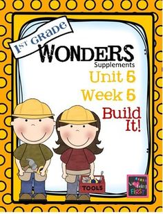 If you are already using or you are new to the Wonders Reading Program, this 73 page packet is for you.  This packet will help you teach the skills in Unit 5 Week 5 of 6.  You'll have  help with weekly lesson planning, printables for centers or word work activities, anchor charts, essential question posters, vocabulary and spelling practice, and much, much more.UNIT 5 WEEK 5 Page 1  Weekly CoverPage 2  Table of ContentsPage 3-5  Working at HomeBUILDING THE CONCEPTPage 6  Essential Question…
