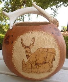 Gourd Carving Techniques | Carving Bernadette Fox, artist