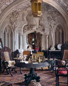 Pena Palace, one of the halls - Sintra, Portugal