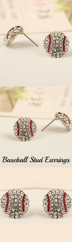 Baseball Stud Earrings! Click The Image To Buy It Now or Tag Someone You Want To Buy This For.  #Baseball