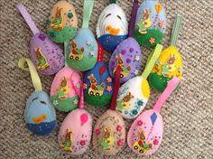 Embroidered felt Easter eggs