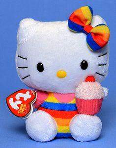 Hello Kitty (rainbow) - Cat - Ty Beanie Babies