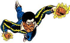 Black Lightning (Early, Original) Female Superheroes And Villains, Dc Comics Characters, Disney Characters, Fictional Characters, Comic Book Heroes, Comic Books Art, Comic Art, African American Heroes, Normal Guys