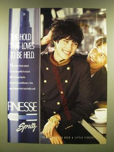 1990 Finesse Spritz Ad - The Hold that loves to be held Vintage Advertisements, Vintage Ads, Vintage Hairstyles, Hold On, Hair Care, Youth, Hair Care Tips, Young Man, Classy Hairstyles