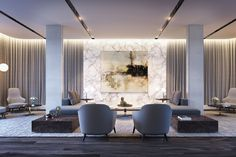 Work from home in style. The executive lounge is available for residents' meetings and  business presentations.