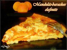 Mandulás-barackos clafoutis Food And Drink, Desserts, Tailgate Desserts, Deserts, Postres, Dessert, Plated Desserts