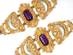 Magnificent Georgian Pinchbeck Pair of Bracelets