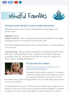 """October Mindful Families newsletter - read about how Sara puts Dan Siegel's new book """"No Drama Discipline"""" into action..."""