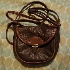 Small faux leather satchel This satchel is really awesome for summertime adventures!  Brown faux leather, only used a few times. American Eagle Outfitters Bags Satchels
