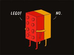 Dribbble - I Will Never Lego by ilovedoodle (doodle,illustration,graphic design)