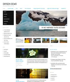 oxygen wordpress theme. Simple and free with a design that allows for an easy way to present your blog posts with strong visuals in a way that is easy to read