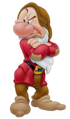Grumpy is one of the seven dwarfs in Disney& 1937 film Snow White and… Art Disney, Disney Wiki, Disney Love, Disney Pixar, Disney Bound, Scrapbook Da Disney, Grumpy Dwarf, Disney Parque, Snow White Seven Dwarfs