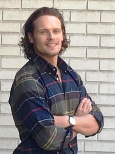 NEW Fan Pics of Sam Heughan at Barbour and Bloomingdale's   Outlander Online
